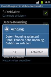 Samsung Galaxy Xcover - Ausland - Im Ausland surfen – Datenroaming - 10 / 12