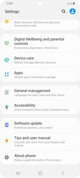 Samsung Galaxy S20 Plus 5G - Mobile phone - Resetting to factory settings - Step 4