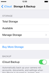 Apple iPhone 4S iOS 7 - Applications - configuring the Apple iCloud Service - Step 11