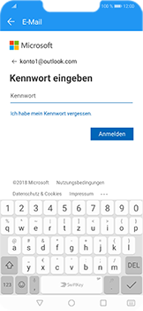Huawei Honor Play - E-Mail - Konto einrichten (outlook) - Schritt 7