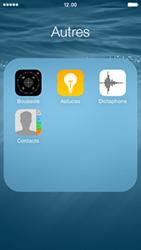 Apple iPhone 5 (iOS 8) - Contact, Appels, SMS/MMS - Ajouter un contact - Étape 4