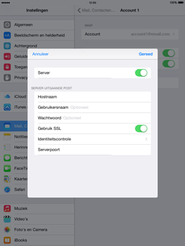 Apple iPad 2 iOS 8 - E-mail - Account instellen (IMAP zonder SMTP-verificatie) - Stap 19