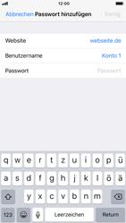 Apple iPhone 6s - iOS 11 - Anmeldedaten hinzufügen/entfernen - 7 / 13