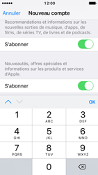 Apple iPhone SE - iOS 10 - Applications - Créer un compte - Étape 16