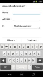 Sony Xperia Z1 - Internet und Datenroaming - Verwenden des Internets - Schritt 15