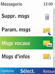 Nokia X2-00 - Messagerie vocale - Configuration manuelle - Étape 5