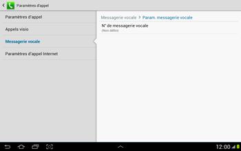 Samsung N8000 Galaxy Note 10-1 - Messagerie vocale - Configuration manuelle - Étape 8