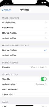 Apple iPhone 11 - E-mail - Manual configuration IMAP without SMTP verification - Step 25
