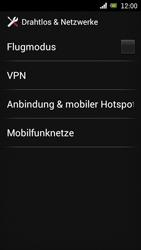 Sony Ericsson Xperia Ray mit OS 4 ICS - Ausland - Im Ausland surfen – Datenroaming - 7 / 12