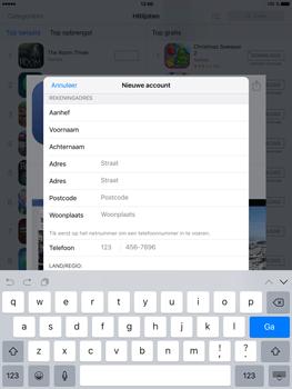 Apple iPad Mini 4 - Applicaties - Account aanmaken - Stap 18