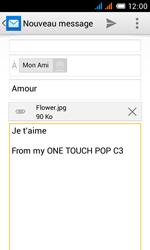 Alcatel OT-4033X Pop C3 - E-mail - Envoi d