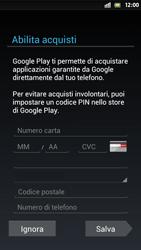 Sony Xperia S - Applicazioni - Configurazione del negozio applicazioni - Fase 13