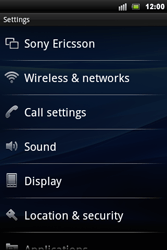 Sony Xperia Mini Pro - MMS - Manual configuration - Step 4