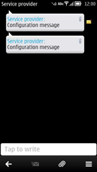 Nokia 700 - Settings - Configuration message received - Step 5