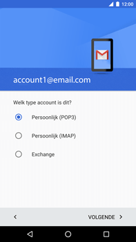 Huawei Google Nexus 6P - E-mail - Account instellen (POP3 zonder SMTP-verificatie) - Stap 12
