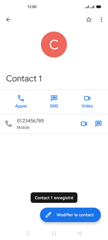 Oppo Reno 4Z - Contact, Appels, SMS/MMS - Ajouter un contact - Étape 9