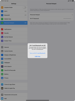 Apple iPad Pro 12.9 (2nd gen) - iPadOS 13 - WiFi - How to enable WiFi hotspot - Step 7
