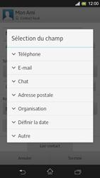 Sony Xpéria SP - Contact, Appels, SMS/MMS - Ajouter un contact - Étape 13
