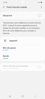 Samsung Galaxy Note20 - Internet et connexion - Partager votre connexion en Wi-Fi - Étape 7