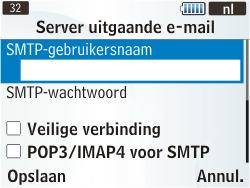 Samsung S3350 Chat 335 - e-mail - handmatig instellen - stap 19
