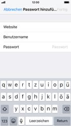 Apple iPhone SE - iOS 11 - Anmeldedaten hinzufügen/entfernen - 0 / 0