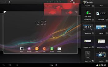 Sony Xperia Tablet Z LTE - Startanleitung - Installieren von Widgets und Apps auf der Startseite - Schritt 6