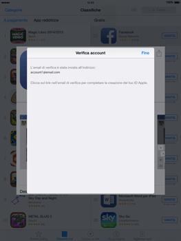 Apple iPad Air - iOS 8 - Applicazioni - Configurazione del negozio applicazioni - Fase 23