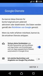 Sony Xperia XZ - Android Nougat - Apps - Konto anlegen und einrichten - Schritt 20