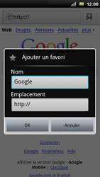 Sony Xperia Arc - Internet - Navigation sur Internet - Étape 5