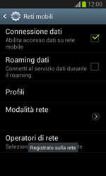 Samsung Galaxy Trend Lite - Rete - Selezione manuale della rete - Fase 10