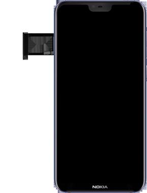 Nokia 6.1 Plus - SIM-Karte - Einlegen - Schritt 5