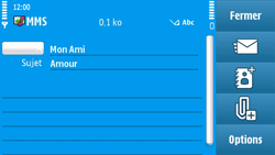 Nokia N97 - MMS - envoi d'images - Étape 11