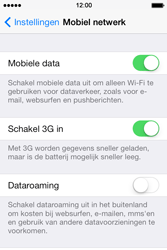 Apple iPhone 4 S iOS 7 - Internet - Mobiele data uitschakelen - Stap 4