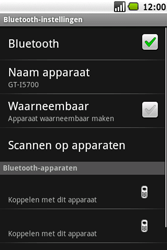 Samsung Galaxy Spica (GT-i5700) - Bluetooth - Headset, carkit verbinding - Stap 7