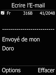 Doro 6520 - E-mails - Envoyer un e-mail - Étape 10