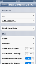Apple iPhone 5 - E-mail - Manual configuration IMAP without SMTP verification - Step 14