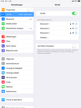 Apple iPad Air - iOS 12 - WLAN - Manuelle Konfiguration - Schritt 5
