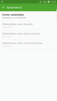 Samsung Galaxy S6 edge+ - Anrufe - Rufumleitungen setzen und löschen - 1 / 1