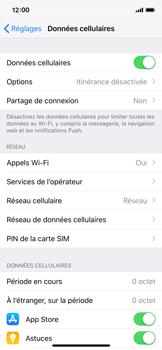 Apple iPhone XS - Internet et roaming de données - Comment vérifier que la connexion des données est activée - Étape 5