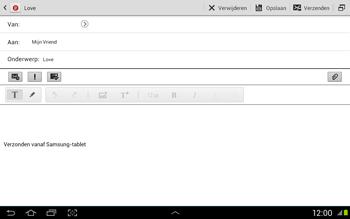 Samsung N8020 Galaxy Note 10-1 LTE - E-mail - Hoe te versturen - Stap 9