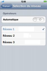 Apple iPhone 4 S - Réseau - Sélection manuelle du réseau - Étape 6