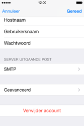 Apple iPhone 4 iOS 7 - E-mail - Account instellen (POP3 zonder SMTP-verificatie) - Stap 23