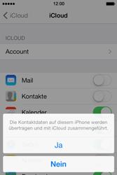 Apple iPhone 4S iOS 7 - Apps - Konfigurieren des Apple iCloud-Dienstes - Schritt 6