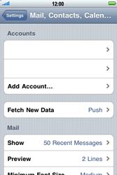 Apple iPhone 4 - E-mail - Manual configuration - Step 10