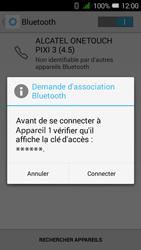 Alcatel OT-4027X Pixi 3 (4.5) - Bluetooth - jumelage d