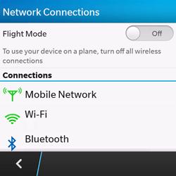 BlackBerry Q10 - WiFi - WiFi configuration - Step 5