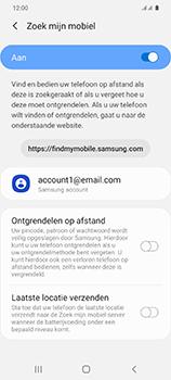 Samsung Galaxy S20 5G Dual-SIM eSIM SM-G981B - Beveiliging en ouderlijk toezicht - Zoek mijn mobiel inschakelen - Stap 7
