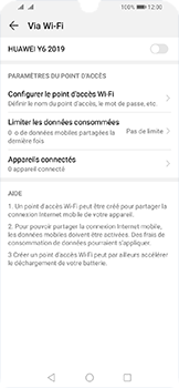 Huawei Y6 (2019) - Internet - comment configurer un point d'accès mobile - Étape 12