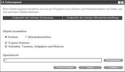 LG KP500 Cookie - Software - Sicherungskopie Ihrer Daten erstellen - Schritt 7