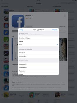 Apple iPad Pro 12.9 inch (2nd generation) - Applicaties - Account aanmaken - Stap 18